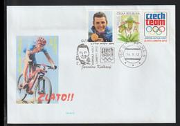 Czech Republika Cover 2012 London Olympic Games - Czech Gold Jaroslav Kulhavy, MTB - Personalized Stamp (G124-23) - Eté 2012: Londres
