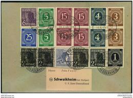 1948, Hochfrankierter Brief Mit Ziffern Und Arbeiter Ab FRANKFURT HEDDERHEIM Vom 21.6.48, Dem Ersten Tag Zehnfachfrankat - Zona AAS