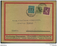 1923, Firmen-Werbebrief,  Reklame, Ab MEERBUSCH BÜDERICH, Werkzeug-Diamanten - Lettere