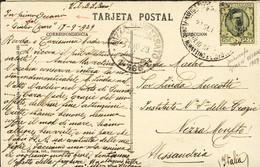 1929-Spagna Annullo Piroscafo Giulio Cesare Florio Rubattino Lloyd Navigazione Su Cartolina Barcellona La Cattedrale Aff - Urbino