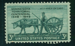 USA Scott #981  1949    3c Minnesota    Mint Never Hinged (MNH) - Nuevos