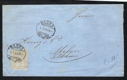 SUISSE 1868: LSC De Basel Pour Solothurn Avec Le ZNr. 28 - Brieven En Documenten