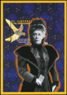 SAINT VINCENT AND THE GRENADINES 1995 Bertha Von Suttner 1905 Nobel Peace Prize Winner Writers Bird Animals Fauna MNH - Otros