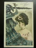 Superbe CPA  FEMME Artiste D'AUBRAY  Reutlinger  ART NOUVEAU  Paillettes - Mujeres