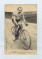 """CPA Cyclisme Édition J. BOLDO : N° 133 Charles CRUCHON Vainqueur Du Tour De France Sur Bicyclette """"Armor"""". Vélo.Cycliste - Ciclismo"""