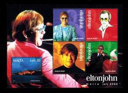 Mi. Bl. 25 Elton John Um Mint   M087 - Malta