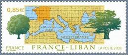 Timbre Neuf France MNH 2008 : Emission Commune France-Liban - Ongebruikt