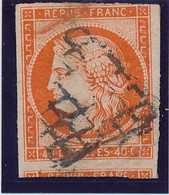 40 C Orange Vif N°5 Déf. - 1849-1850 Ceres