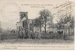 L100H117 - La Guerre 1914 Dans Les Vosges - Nompatelize, église Incendiée Et Tombes De Soldats - Weick N°11406 - Guerra 1914-18
