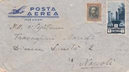 1936 ERITREA C. 50 E Lire 1 Su Busta Via Aerea PM 3E (20.3) - Eritrea