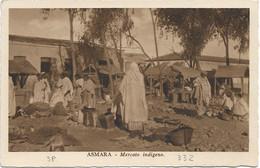 1936 ASMARA Mercato Indigeno Viaggiata, Affrancata Eritrea 7,50 + Pittorica Due C.2 Ovale RR.POSTE Maccale' - Eritrea