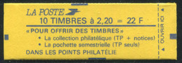 FRANCE - CARNET N° 2376 -C 5c   -  * *  - CONF. 9 - COMPLET FERME & SUP - Definitives