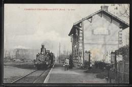 CPA 27 - Chambray-Fontaine-sous-Jouy, La Gare - Train - Otros Municipios