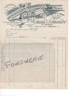 Lettre Veuve RENAUD LEMAITRE Qincaillerie Ferronnerie Serrurerie Verso = Demande Particulière 45 Briare 1941 WW1 - 1900 – 1949
