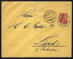 SUISSE 1909: CP Entier De 10c De Oberuzwil Pour Zürich - Enteros Postales