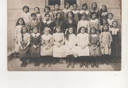 CARTE PHOTO D ECOLE DE LA VERRERIE DE PORTIEUX 1913  VOIR RECTO - Andere Gemeenten