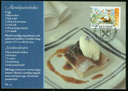 Mk Aland Islands Maximum Card 2002 MiNr 206   Traditional Dishes.Aland Pancake With Stewed Prune Sauce And Whipped Cream - Aland