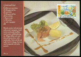 Mk Aland Islands Maximum Card 2002 MiNr 203   Traditional Dishes. Spiced Salmon And New Potatoes - Aland