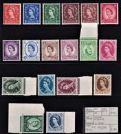 GRAN BRETAGNA 1955/56 DEFINITIVA QEII  FIL. CORONA S. EDWARD  MNH** UNIG. 287/301  PERFETTI CV £ 290 - Nuevos