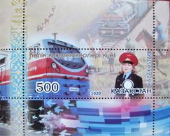 Kazakhstan  2020  Trains, Locomotives  Railway Worker Day  S/S  MNH - Kazakhstan