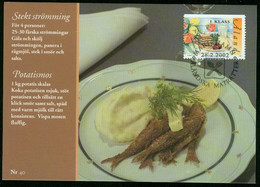 Mk Aland Islands Maximum Card 2002 MiNr 204   Traditional Dishes. Fried Herring, Mashed Potatoes And Beetroot - Aland