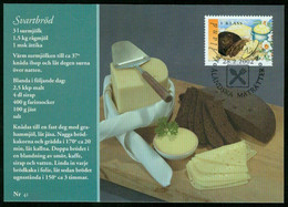 Mk Aland Islands Maximum Card 2002 MiNr 205   Traditional Dishes. Black Bread And Butter - Aland
