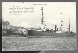 """35 Saint Malo, Le Steamer """"Gallia"""" Partant Pour Les Bancs De Terre Neuve Avec 1200 Pêcheurs (5838) - Saint Malo"""