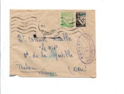 PORTUGAL AFFRANCHISSEMENT COMPOSE SUR LETTRE POUR LA FRANCE 1943 OUVERTE PAR LA CENSURE FRANCAISE - Briefe U. Dokumente
