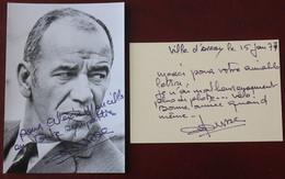2 Dédicaces De André Pousse , Comédien Et Ancien Coureur Cycliste - Autographs