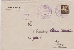 1942 POSTA MILITARE/N58 C.2 Viola (31.3) Su Busta Tassata Destinatario Coperto Segni Tassazione Non Riscossa - Storia Postale