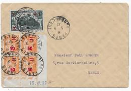 Lettre De PARIS 1942 Pour NANCY Bloc De 4 Type PAIX Coin Daté - 1921-1960: Periodo Moderno