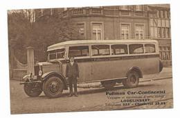 Autocar (Pullman) Construit Dans Les Années 1925 Avec Son Chauffeur  TOP De TOP - Bus & Autocars