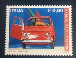 2007 - Italia - Made In Italy - Fiat 500. E.0,60 - 2001-10: Mint/hinged