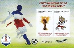 Costa Rica 2018 Football World Cup FIFA In Russia SS MNH - 2018 – Russia