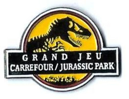 JURASSIC PARK - GRAND JEU CARREFOUR - Verso : TM & C 1992 UUCS & AMBLIN - Cinema