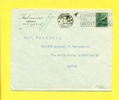 TARGHETTE-STORIA POSTALE-ANNULLI A TARGHETTA-ISOLATI SU BUSTA-MARCOFILIA-democratica - 1946-60: Poststempel