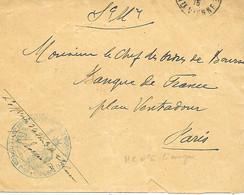 87-cachet Hôpital Temp. N°6 à Limoges Sur Lettre Sans Correspondance En 1915 - 1. Weltkrieg 1914-1918