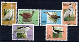"""Cuba 1993 - 6 Valeurs  """"Echassiers""""    Oblitérées - Used - Picotenazas & Aves Zancudas"""
