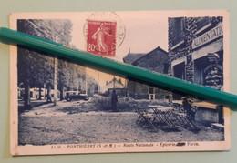 Carte Postale - PONTHIERRY - Route Nationale - Epicerie Café Varin - Andere Gemeenten