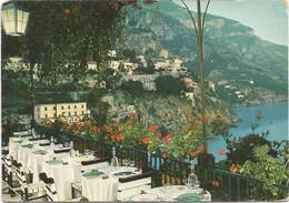 K4555 Positano (Salerno) - Veduta Dal Terrazzo Dell'Albergo Miramare - Panorama / Viaggiata 1961 - Other Cities
