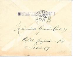 87-cachet Hôpital Temp N°11 à Limoges Sur Lettre Sans Correspondance En 1915 - 1. Weltkrieg 1914-1918
