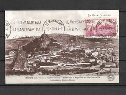 Carte Le Puy En Velay 290 Yt Non Circulé  Obliteration Flamme 1933 - 1930-39