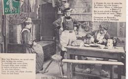 Folklore : Costumes : Bretagne : Le Couteau - Scène : N° 4 - 5 : édit. Breizi E. H.  : Chanson De Botrel - Costumes
