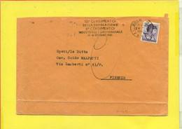 TARGHETTE-STORIA POSTALE-ANNULLI A TARGHETTA- ISOLATI SU BUSTA-MARCOFILIA-MICHELANGIOLESCA - 1961-70: Poststempel