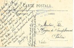 87-cachet Hôpital Temp. N°7 à Bellac Sur CP En 1915 - 1. Weltkrieg 1914-1918