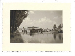 Willebroek - Spoorwegbrug - Foto (11x8cm). - Willebroek