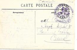 87-cachet Hôpital Temp. N°7 Bis à  Châteauneuf-la-Forêt Sur CP En 1915 - 1. Weltkrieg 1914-1918
