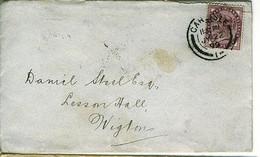 GB QV 1899 Cover From CARLISLE To WIGTON Cumberland - Briefe U. Dokumente