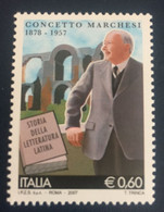 2007 - Italia - Concetto Marchesi ( 1878-1957 ). E.0,60 - 2001-10:  Nuovi