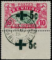 REUNION Poste O - 80, Bdf, Surcharge Noire, Signé Thiaude: +5c. S. 10c. - Cote: 150 - Sin Clasificación